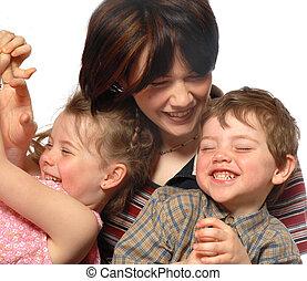 lachender, familie