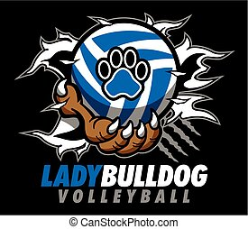 Lady Bulldog Volleyball.