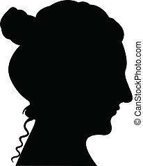 Lady Head Silhouette Vektor.