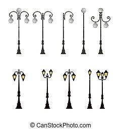 Lampenpost-Lampenpost-Straßenbeleuchtung.