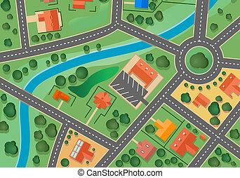 Landkarte des Dorfes.