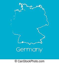 landkarte, deutschland, land