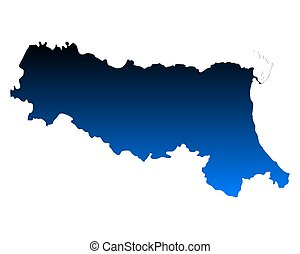 landkarte, emilia-romagna