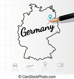 landkarte, infographic, deutschland