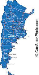 landkarte, politisch, argentinien