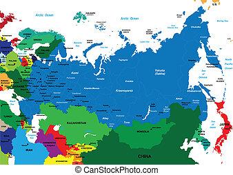 landkarte, politisch, russland