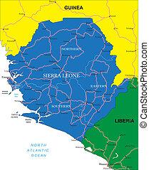 landkarte, sierra leone