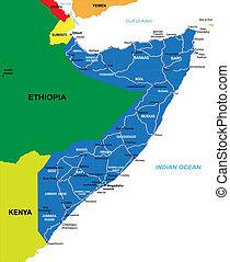 landkarte, somalia