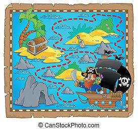landkarte, thema, pirat, bild, 3
