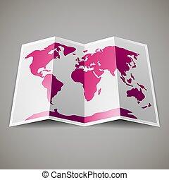 landkarte, welt