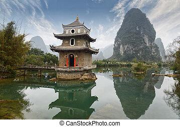 Landscape in Yangshuo guilin, china.