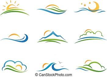 Landscape Logo und Icon.