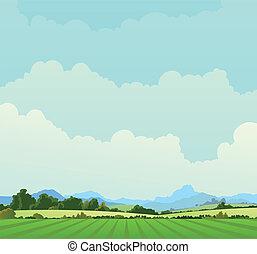 Landschafts Hintergrund