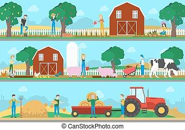 Landwirtschaftliche Illustration.
