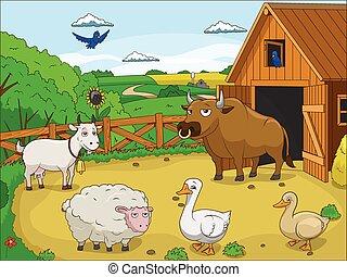 Landwirtschaftliche Zeichentrick-Bilder.