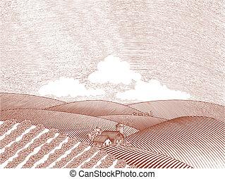 Landwirtschaftsszene.