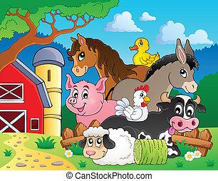 Landwirtschaftstiere Thema Nummer 3