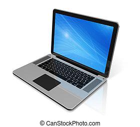Laptop-Computer isoliert auf weiß