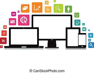 Laptop Desktop Tablet Smartphone App.