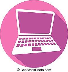 Laptop Flat Icon.