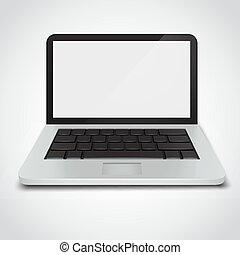 Laptop isoliert auf weißem Hintergrund.