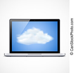 Laptop mit Cloud Icon