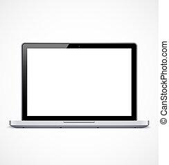 Laptop mit weißem Bildschirm