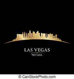 Las Vegas Nevada City Skyline Silhouette schwarzen Hintergrund