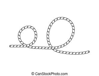 Lasso-Seil isolierte Vektor-Ikone