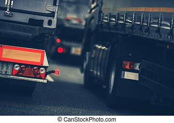 Lastkraftwagen schweren Verkehr