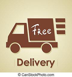 lastwagen, delivery., frei