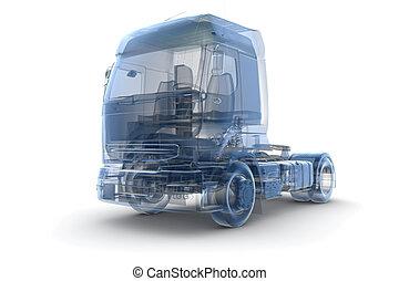 lastwagen, röntgenaufnahme
