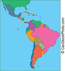 Lateinamerika Amerika mit redaktionellen Ländern
