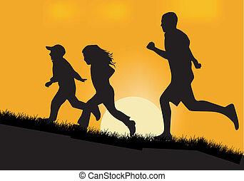 Laufen.