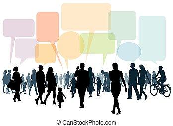 Laufen und reden
