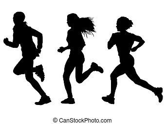 Laufende Frau.