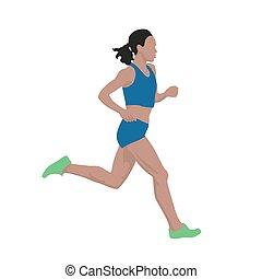 Laufende Frau, Vektorgrafik.