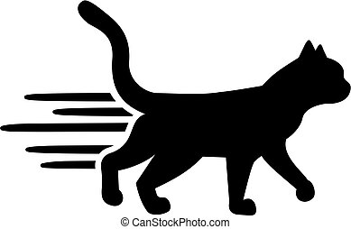 Laufende Katze.