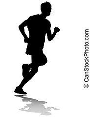 Laufende Männer.