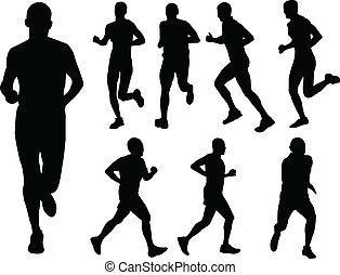 Laufende Menschen - Vektor