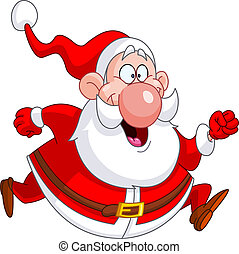 Laufende Santa.