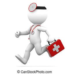 Laufender Arzt