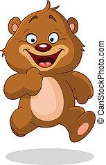 Laufender Teddybär