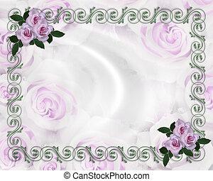Lavender Roses Hochzeitseinladung