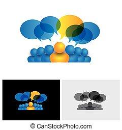 Leader & Leader-Konzept oder Manager & Büropersonal Vektor Icon