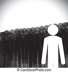 Leadership Concept Vektor - Manager mit Mitarbeitern