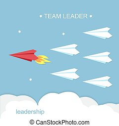 Leadership, Team Leader Konzept.