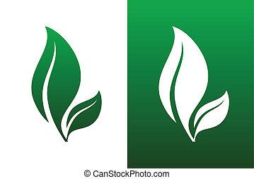 Leaf-Pair-Ikonvektor illustriert