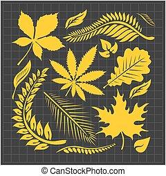 Leaf-Sammlung - Vektorsatz.