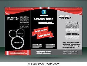 Leaflet Design Layout.
